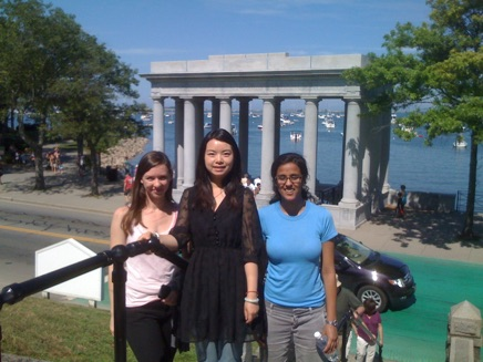 Claire, Qian & Rohini at Plymouth Rock- 2011 Physical Metallurgy GRC