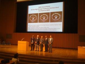 JW Morris receives NIMS award in Tsukuba , Japan June 2012