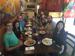 Goodbye lunch for Josh, June 2015