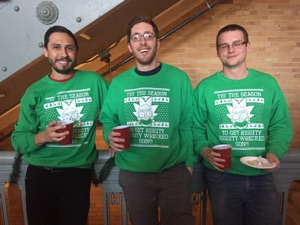 I guess 3 wrongs do make a right, if it is a xmas sweater